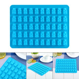 Cake Tools Non-Stick 50 Cavity Silicone Gummy Bear Chocolate Mold Candy Maker Tray