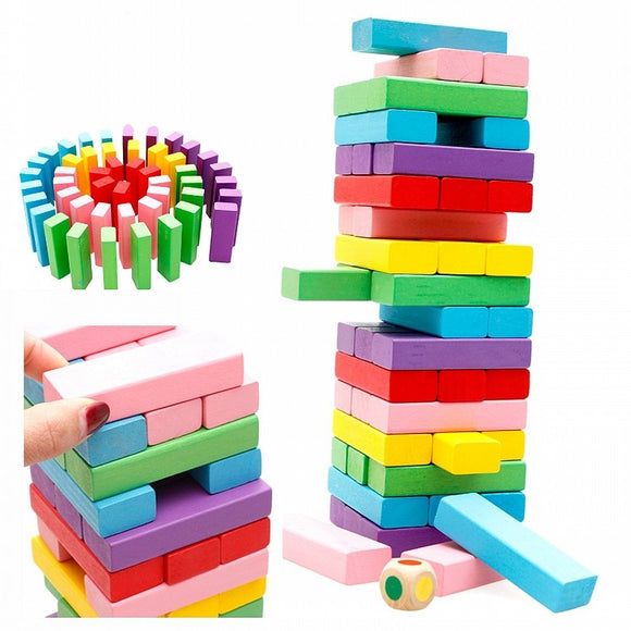 Wooden Toys for Children Tumbling Stacking Tower