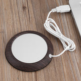 Cup Warmer Mat Creative Wood Coaster USB Desktop Coffee Mug Heater