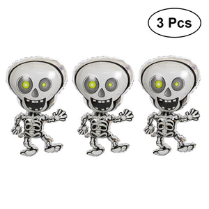 3pcs Halloween Foil Balloons Atmosphere Decoration Dancing Skeletons Mylar Balloons