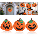 3pcs Halloween Pumpkin Decoration Felt Huge Pumpkin Banner