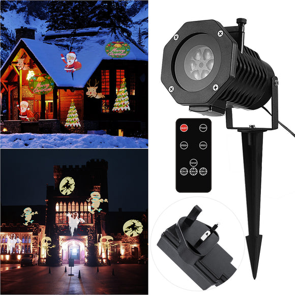 Projector Light Remote Controllable Waterproof Moving LED Outdoor Spotlight Lamp