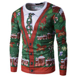Ugly Christmas Printing Top Men's Long-sleeved Sweatshirt
