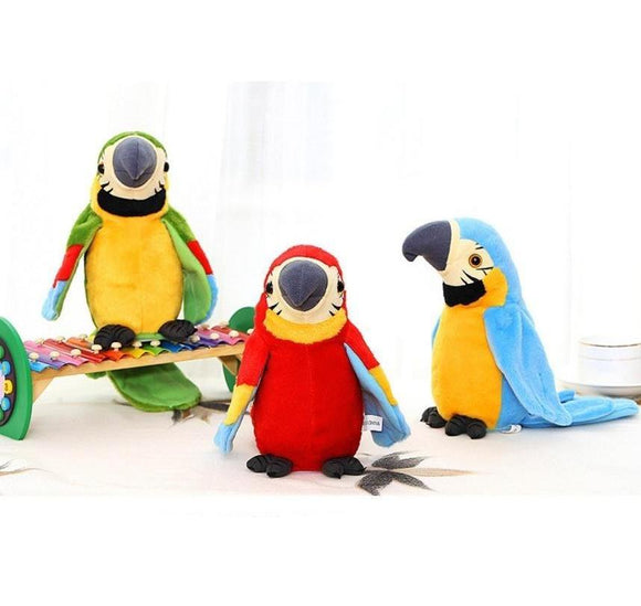 Adorable Speak Talking Record Parrot Stuffed Plush Animals