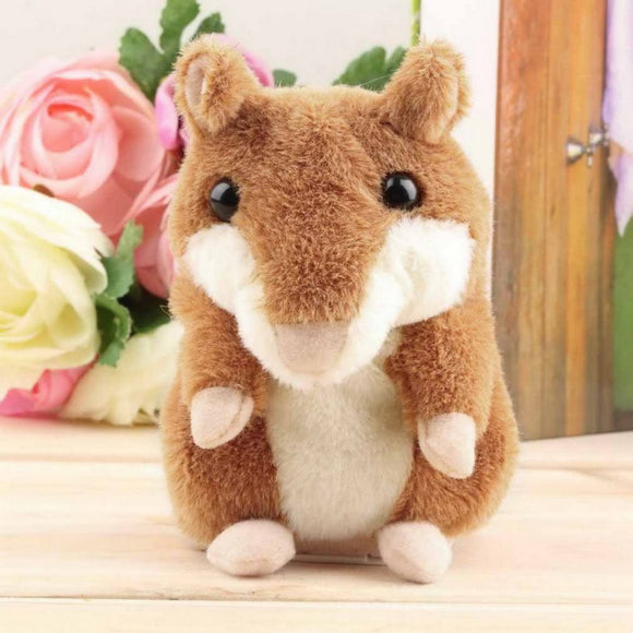 Talking Hamster 15cm Mouse Pet Plush Stuffed Toys Educational Toy for Children