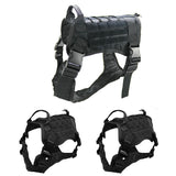 Tactical Service Dog Vest Water Resistant Comfortable Military Patrol Dog Harness Suit