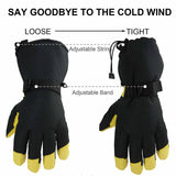 Warm Winter Gloves Windproof Waterproof Warm in Cold Weather