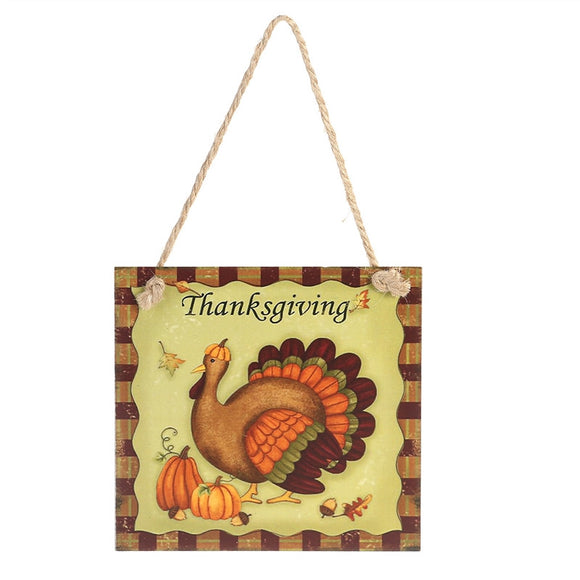 Thanksgiving Wooden Hanging Plaque Sign Thanksgiving Door Hanger Wall Decorations (Thanksgiving)