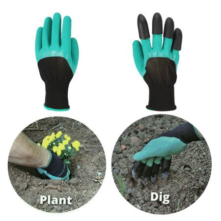 4 Pairs Garden Genie Gloves With 4  Claws