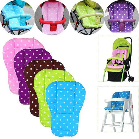 Cotton Baby Pushchair Seat Cushion (Pink)