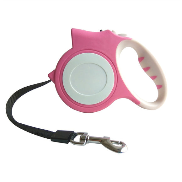 Pet Dog Puppy Cat Automatic Retractable Dog Leash Telescopic Traction Rope Belt With LED Flashlight