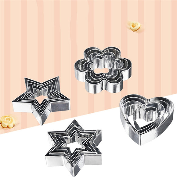 20pcs Baking Mold Stainless Steel Biscuits Cookie Stamp