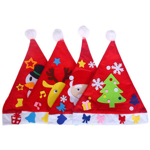 4pcs DIY Christmas Hat