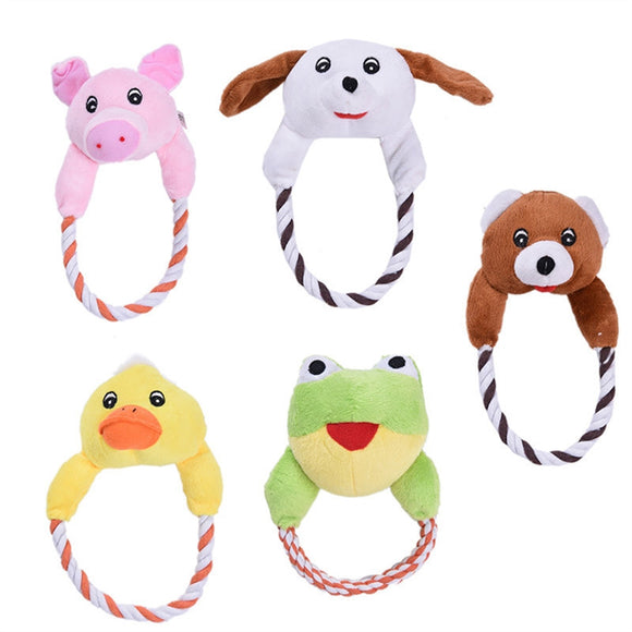 5pcs Pet Plush Toys Cute Biting Rope Training