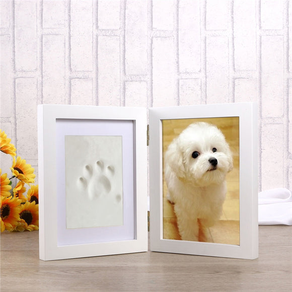 Dog Puppy Cat Photo Picture Frame Paw Print Pet Keepsake Photo Frame