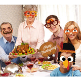 38pcs Creative DIY Thanksgiving Party Photo Booth Props Pose Sign Kit Decoration