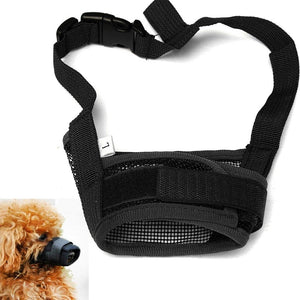 Adjustable Dog Safety Muzzle Mesh Biting Barking Chewing for Dogs S M L XL