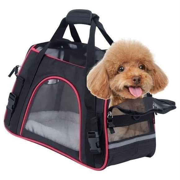 Multifunction Pet Portable Pet Dog Cat Puppy Mesh Handbag Travel Carrier Case Cage Tent Kennel Bag