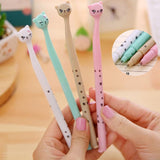 Cute Cat Kawaii Black 0.5mm Gel Ink Roller Ball Point Pen