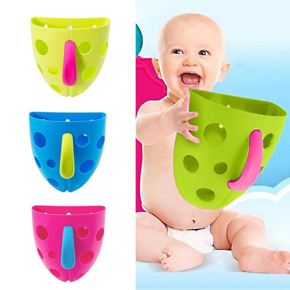 Baby Bath Drain Suction Kids Baby Bath Toy Storage Organizer