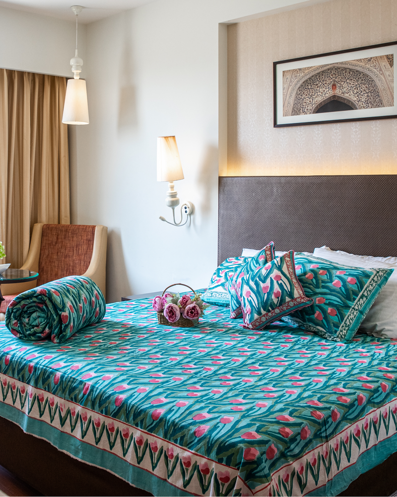 Pacific Handblock Printed Bedding Set