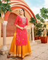 Rani & Yellow Handblock Suit Set