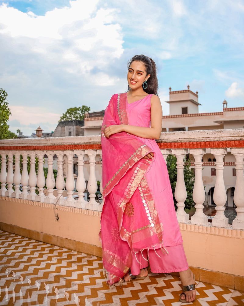 Pink HoneyDrop Gota Suit Set