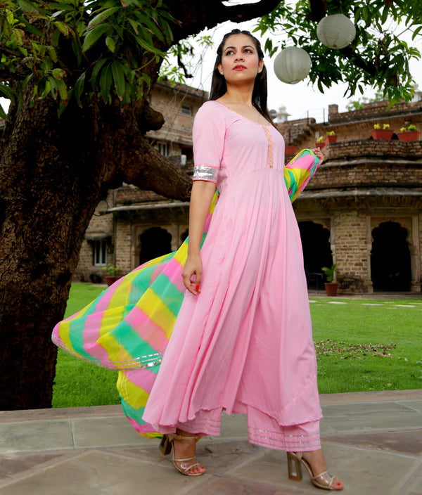 Buy suit sets online India in Pink Cupcake Color