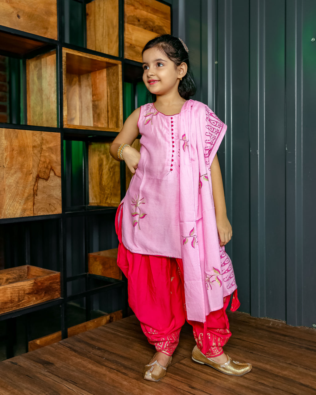 Pretty Pink Dhoti Suit Set