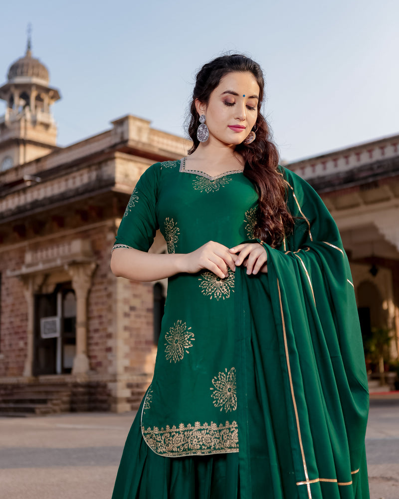 Signature Green Sharara Set