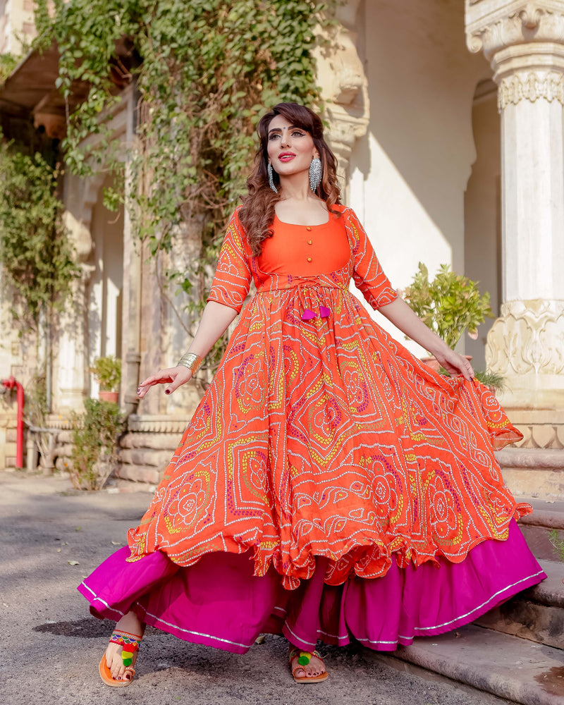 Aachho - Umrao Bandhej Flared Dress