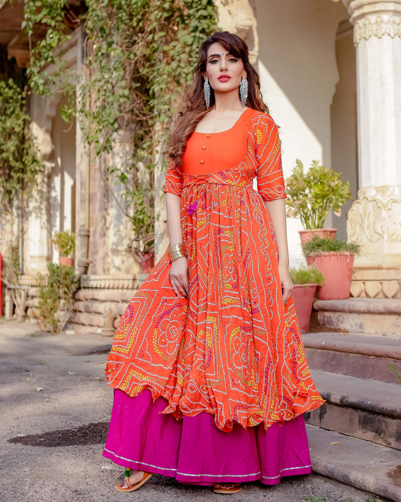 Aachho - Umrao Bandhej Flared Dress - 3