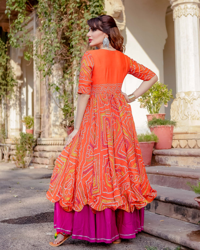 Aachho - Umrao Bandhej Flared Dress - 1
