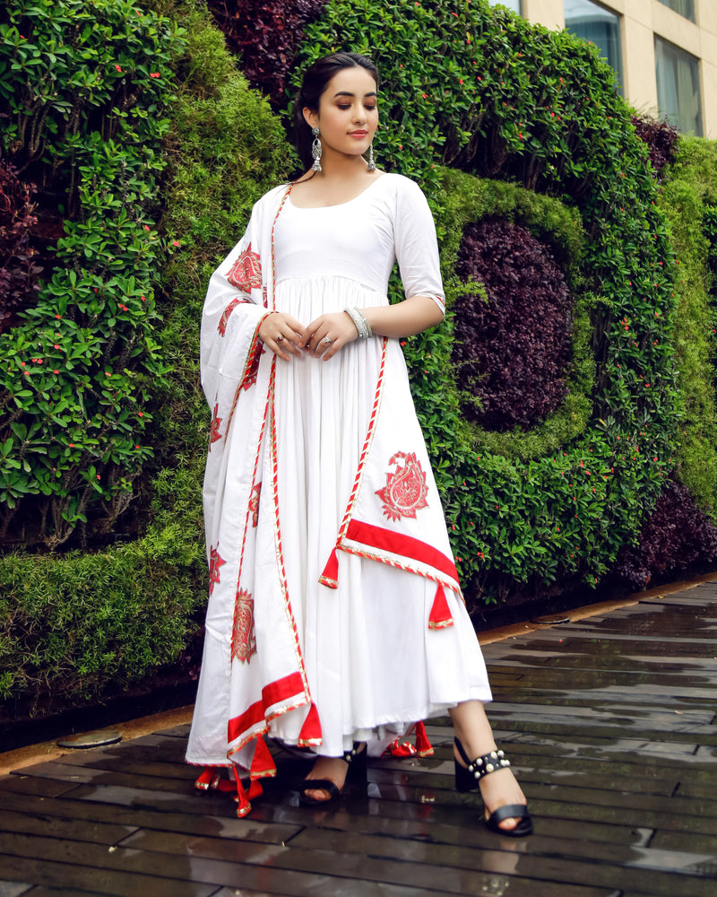 Aachho-Suit Set-Royal White Mughal Suit Set