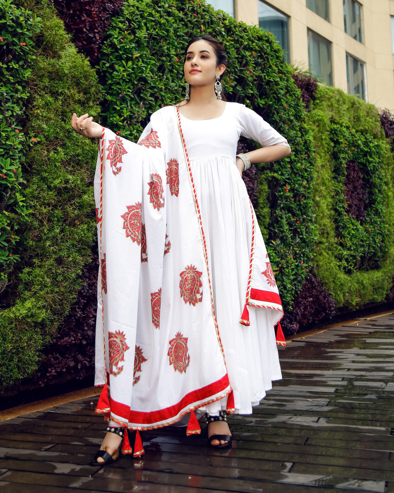 Aachho-Suit Set-Royal White Mughal Suit Set-3