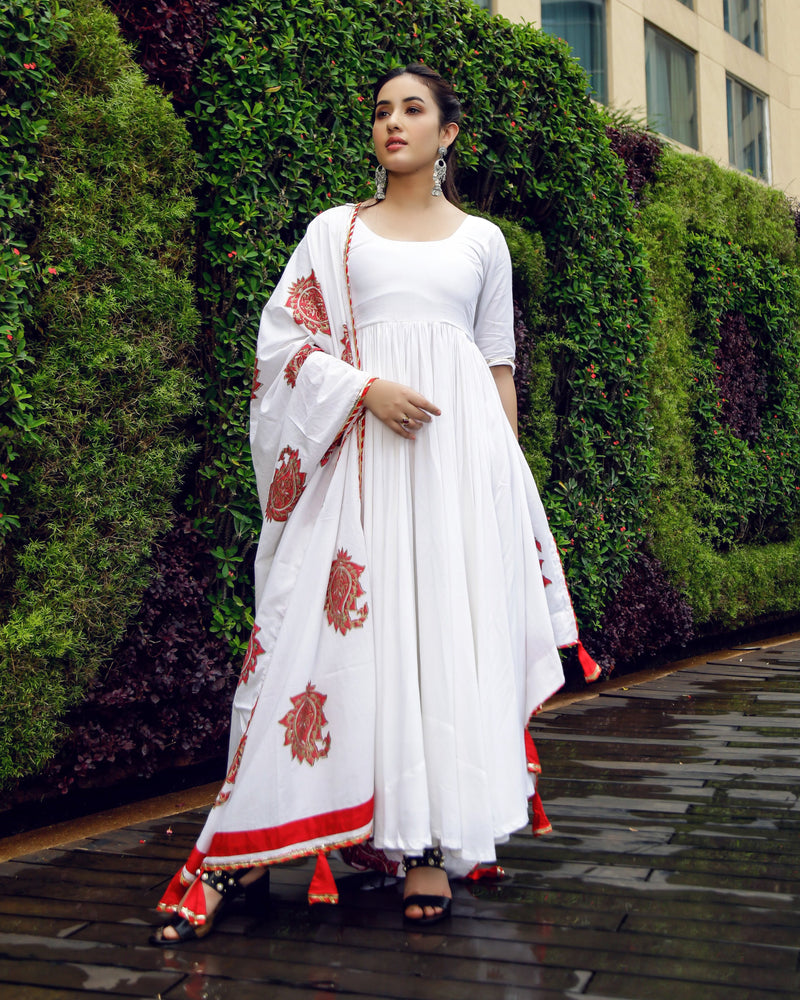 Aachho-Suit Set-Royal White Mughal Suit Set-5