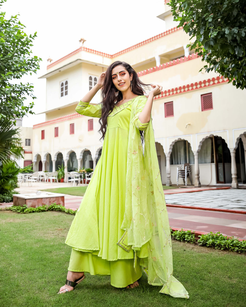Pastel Green Gotapatti Suit Set