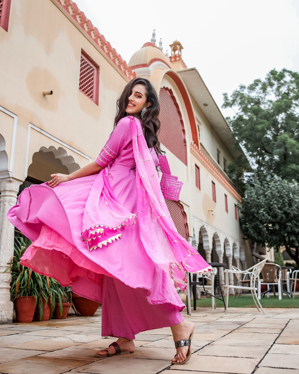 Graceful Pink Gotapatti Suit Set