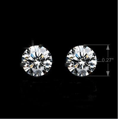 Gorgeous Swiss CZ Stone Gold Plated Stud Earring