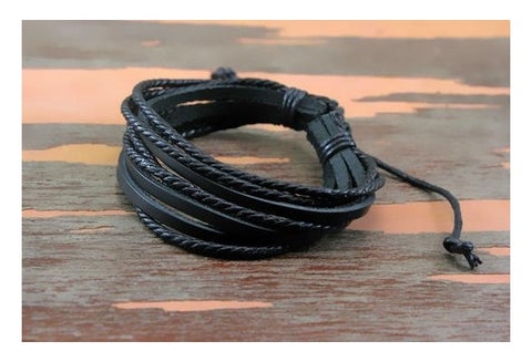 Free Spirit -  Leather with Braided Rope Unisex Bracelet