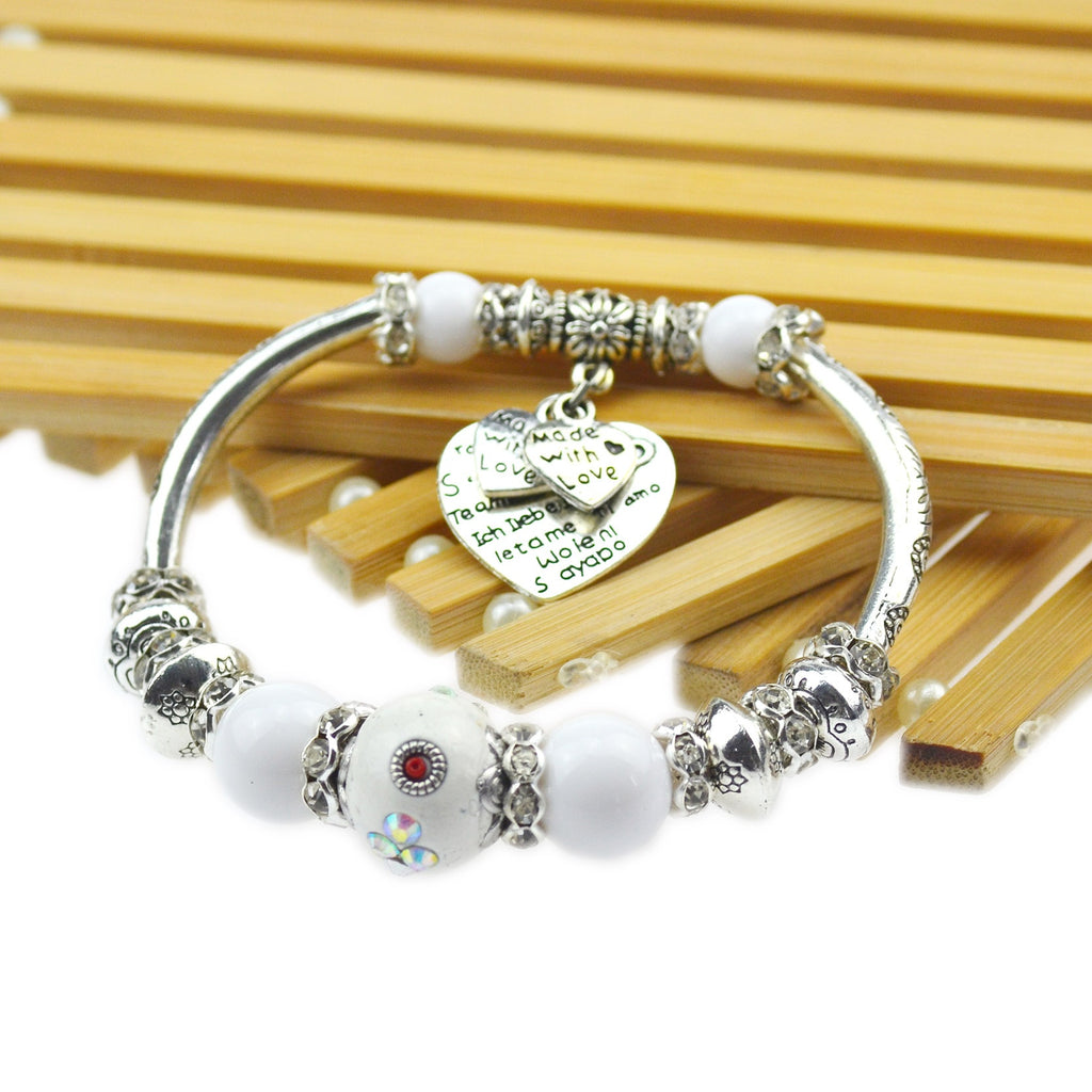 Beautiful Limited edition 925 Sterling Silver plated Indonesia Beads Bracelet
