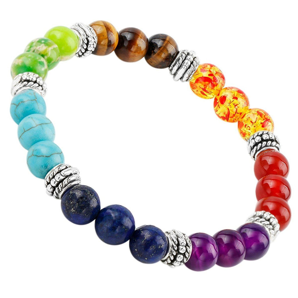 7 Chakras Bracelet Made of Natural Stone