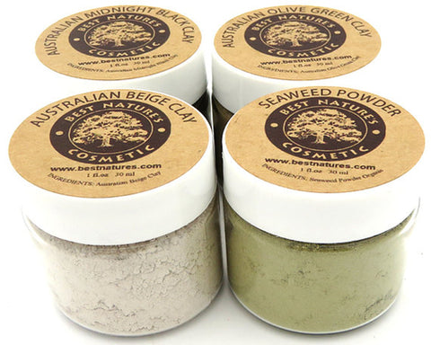 4 Organic Clay Set -  Containing the Best Clays in The World