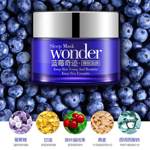 Korean Beauty: Sleep Wonder Non-Wash Blueberry Sleeping Mask