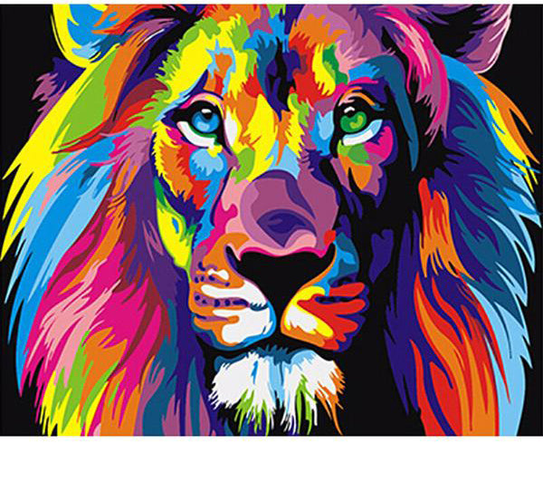 "Abstract Lion DIY Painting By Numbers Kit (16""X20""/ 40X50 cm)"