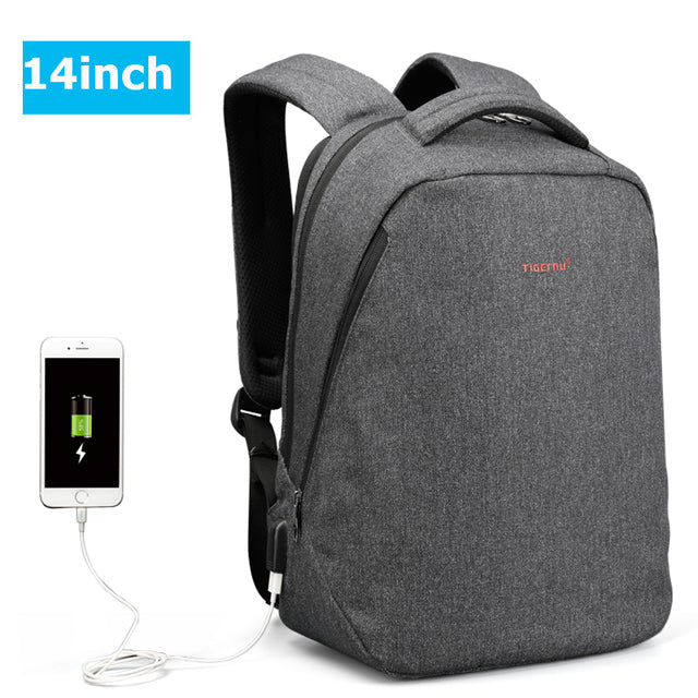 Ajax Tigernu Anti-Theft Backpack with USB Port for 14