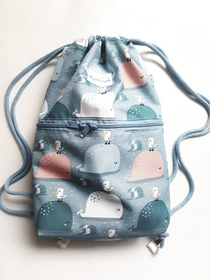 Whales and Gulls - Waterproof Backpack
