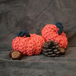 Crochet Pumpkins Neon Orange Set
