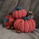 Crochet Pumpkins Terracotta Set