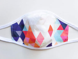 Womens and Teens Cotton Face Mask  -  Geometric